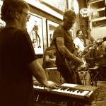 McCready sitting in w/ Danny Newcomb and the Sugarmakers at Easy Street Records